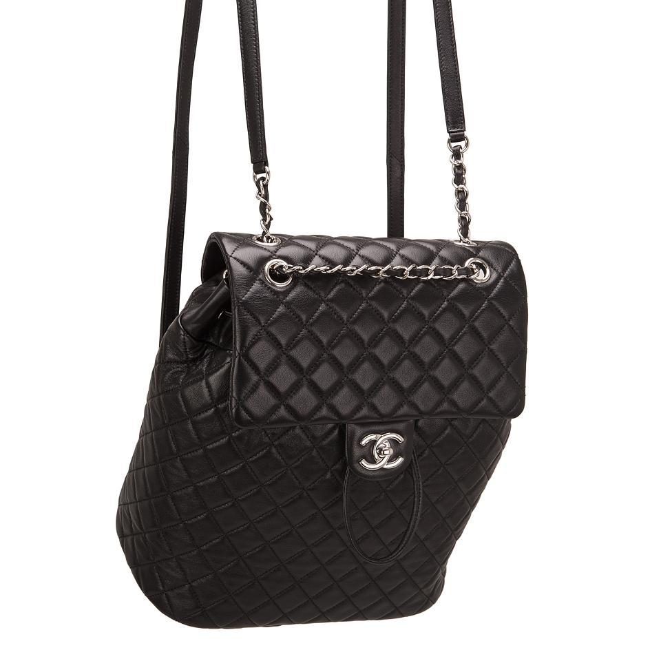 cc0c1880ab79 Chanel Urban Spirit Black Quilted Lambskin Large Backpack