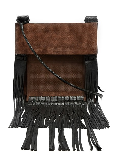 Saint Laurent cross bag leather suede brown