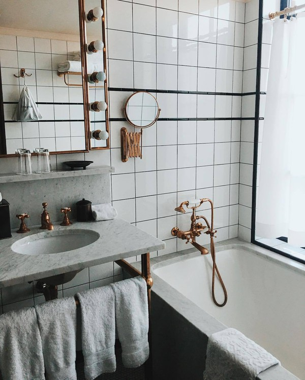 Home accessory tumblr bedroom mirror bathroom marble copper metallic home decor lamp - Cheap hipster furniture ...