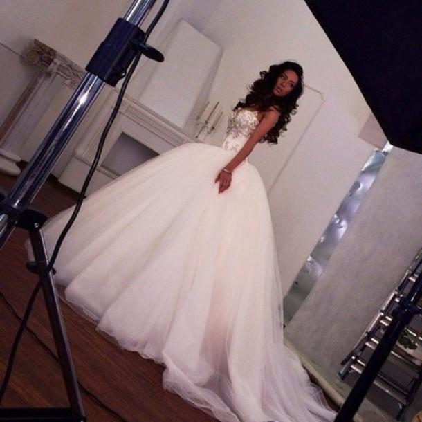 wedding dress dress diamond dress white dress tumblr