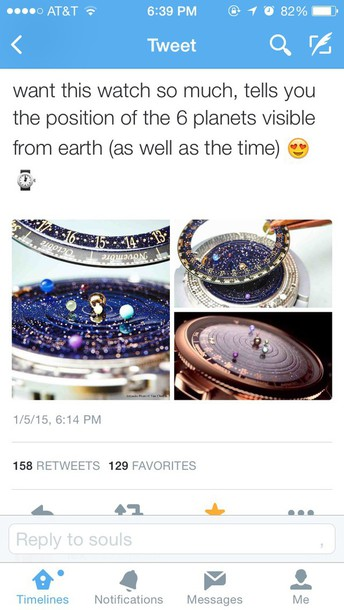 jewels watch watch planets