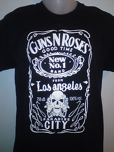 Guns n roses jack daniels tshirt velvet revolver axyl rose all sizes