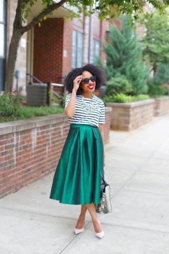 mattieologie blogger skirt shirt top jewels shoes bag sunglasses