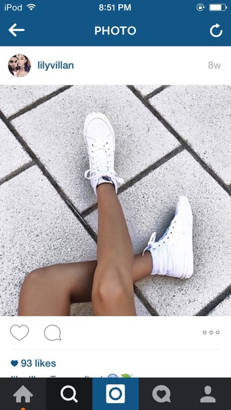 shoes white white shoes tumblr tumblr outfit high top sneakers