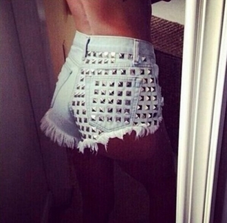 shorts denim shorts studded shorts