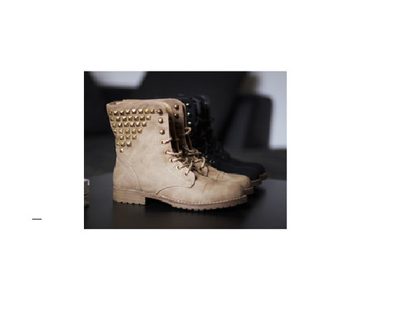 wish wish wish shoes clothes boots winter boots cut off shorts cute cute shoes black brown platform boots, timberlands, brown, sand, vintage love pink beautiful girly superficial girls studded boots rock classy classy girls wear pearls hippie hipster helps