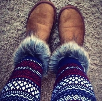 shoes fluffy boots brown