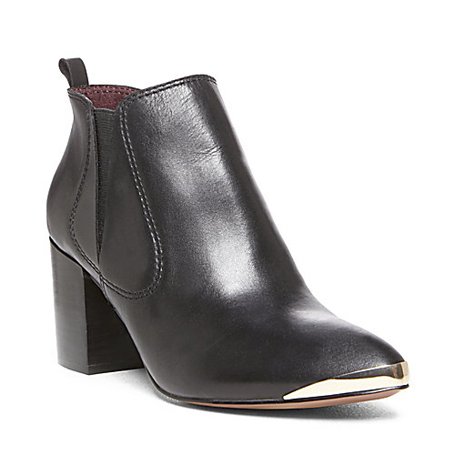 TABOE BLACK LEATHER women's bootie mid casual - Steve Madden