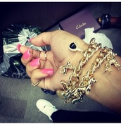 jewels,charm bracelet,gold