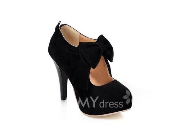 high heels black heels black  high heels black bow strap