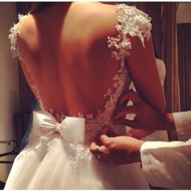 dress white dress white wedding prom dress lace dress lace wedding dress short dress homecoming dress wedding dress lace prom dress open back