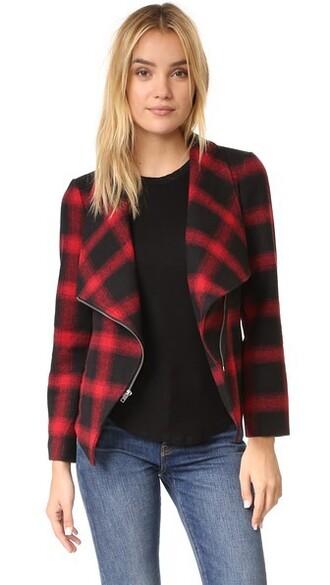 jacket plaid black