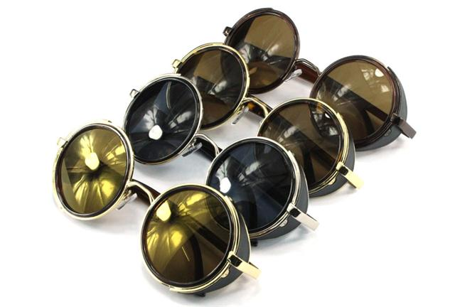 Steampunk Sunglasses 50s Round Glasses Cyber Goggles Vintage Retro Style Blinder | eBay