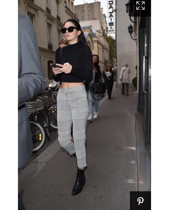 pants cigarette pants kendall jenner top