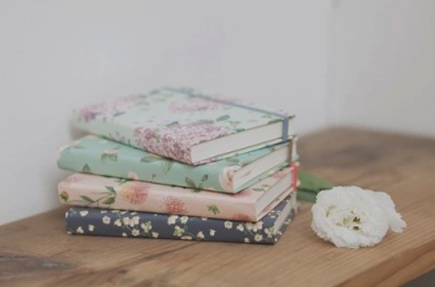 home accessory notebook flowers desk romantic