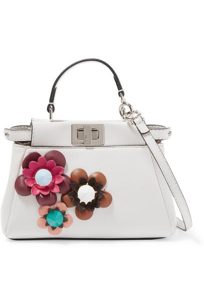 bag shoulder bag leather white off-white