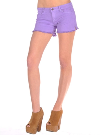 Frayed Denim Shorts                       — Pink Mascara