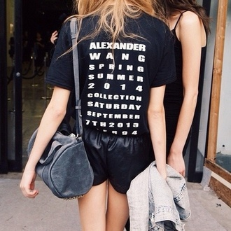 t-shirt alexander wang words on shirt word tshirt writing on back tshirt black and white