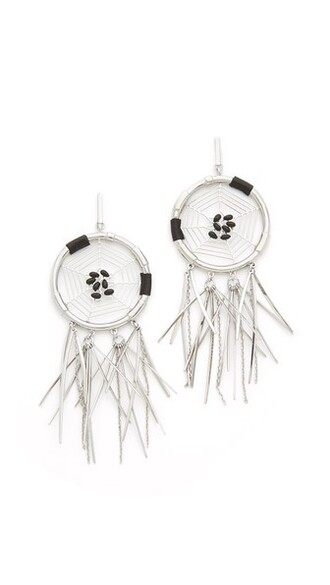 dream catcher earrings earrings black jewels