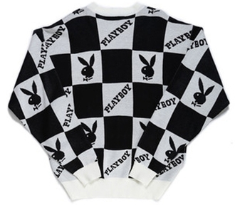 sweater playboy beyonce black and white