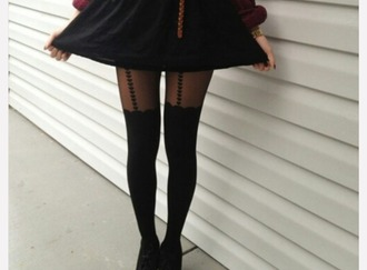 tights vintage collar collar swag swaggy black collar fin heart
