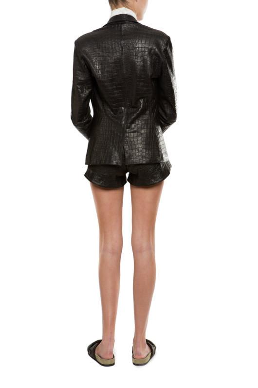 Beline Croc Shorts - MLLE Mademoiselle