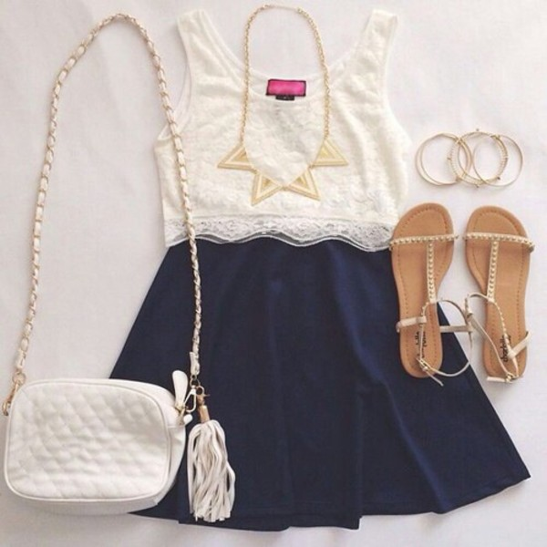 skirt shoes shirt summer dress