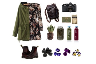 floral dress parka coat dr martens backpack