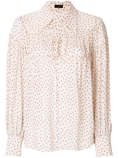 Joseph blouse women nude print silk top