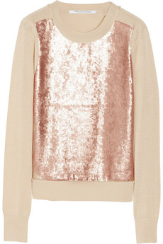 Diane von Furstenberg Maryse sequin-embellished cotton and silk-blend sweater - 55% Off Now at THE OUTNET