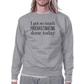 sweater,procrastinating,graphic sweatshirt,cute sweaters,sweatshirt,nike grey sweatshirt,grey sweater,college,college apparel