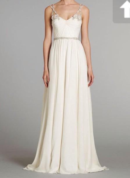 dress, prom dress, long prom dress, maxi dress, white dress, wedding ...