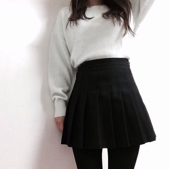 skirt pale grunge tumblr kawaii black