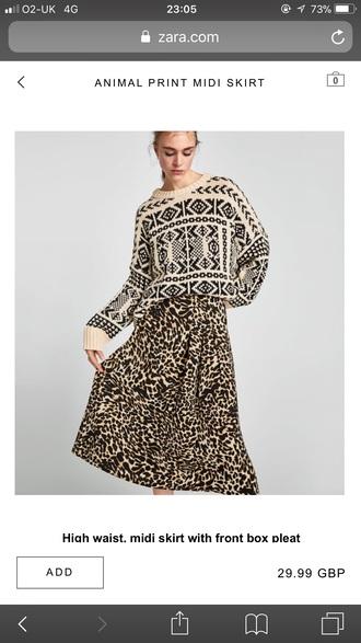 sweater chunky knit cream black patterrn cream black pattern knit jumper sweater
