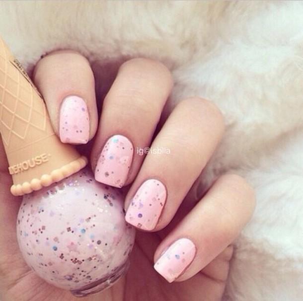 nail polish pink glitter nail accessories pink nails baby pink
