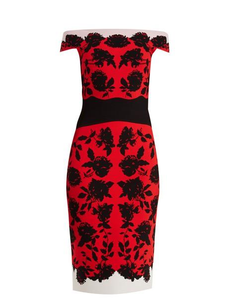 Alexander Mcqueen dress midi dress rose midi red