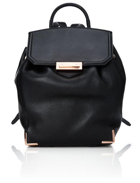 backpack leather black black leather