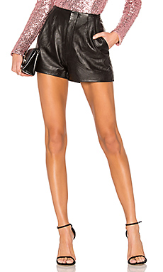 NBD The Blase Leather Short in Black from Revolve.com