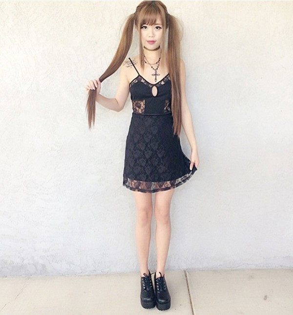 Dress Fashion Asian Kawaii Style Cute Pretty Grunge Goth Lolita Girl Stylemoi Lace
