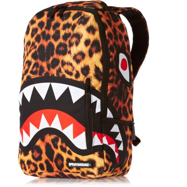 Sprayground Leopard Shark Deluxe Backpack Multi - Polyvore