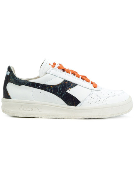 Diadora women sneakers leather white shoes