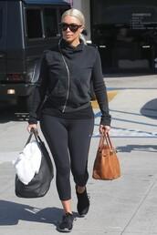 sweater,kim kardashian,leggings,sportswear,sports shoes,sunglasses