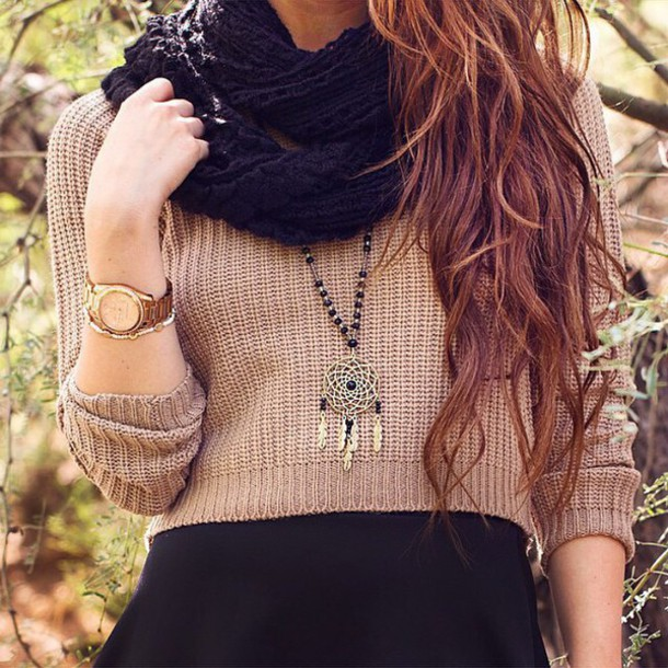 sweater necklace scarf
