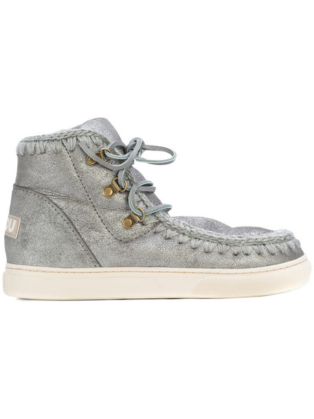 Mou women lace grey shoes