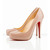 rolando 120 christian louboutin patent leather heels nude