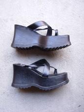 shoes,vaporwave,vintage,etsy,soda,platform shoes,platform sandals,chunky sole,chunky heels,90s style,90s grunge