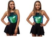 dress,green,sequin playsuit,sequin romper,gradient sequin,romper,black playsuit,sexy playsuit,popular playsuit,hot selling,celebrity style,australian label,size smal,mermaid,mermaid playsuit,mermaid romper,mermaid jumpsuit
