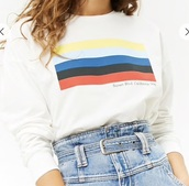 shirt,white,stripes,sunset,graphic sweater,graphic design,graphic top