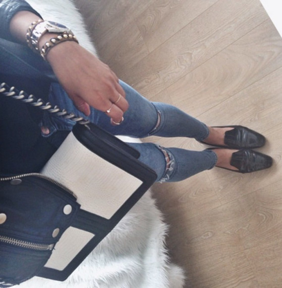 tumblr tumblr girl bag jeans denim