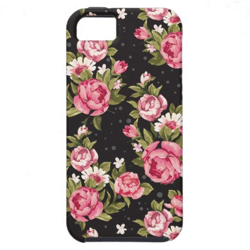 Shabby chic pink and white roses iphone 5 cases from zazzle.com